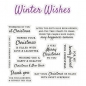 Preview: Crafter's Companion Sentiment & Verses Clear Stamps - Winter Wishes