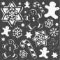 Preview: Stamperia Thick Stencil 18x18cm Gingerbread