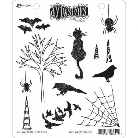 Ranger • Dylusions Cling Stempel bits and bats by dyan Reaveley