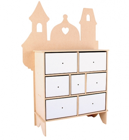 MDF 3D Chest Drawers Castle / Kommode, Pronty