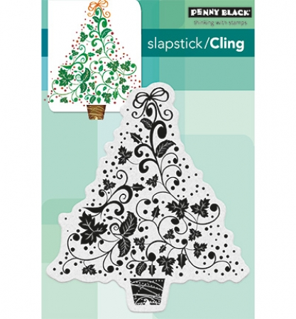 Stempel, Cling Stamps, Festive Tree, Penny Black