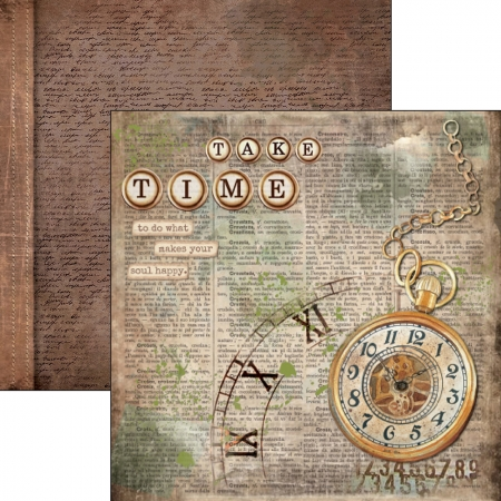Scrapbooking Paper Sheet Take your Time, Ciao Bella