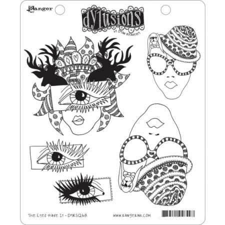 Ranger • Dylusions Cling Stempel the eyes have it by Dyan Reaveley