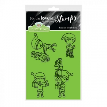 Hunkydory, Happy Town Stamp Set - Santa's Workshop