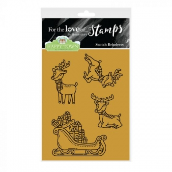 Hunkydory, Happy Town Stamp Set - Santa's Reindeers