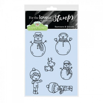 Hunkydory, Happy Town Stamp Set - Snowmen & Friends