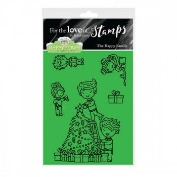 Hunkydory, Happy Town Stamp Set - The Happy Family