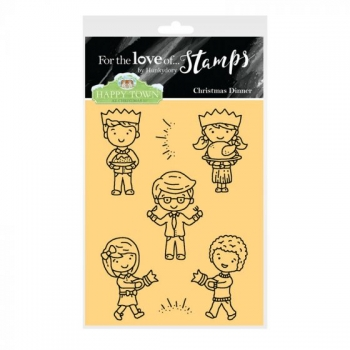 Hunkydory, Happy Town Stamp Set - Christmas Dinner