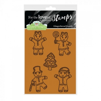 Hunkydory, Happy Town Stamp Set - Gingerbread Family