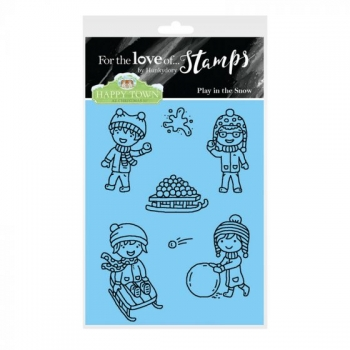 Hunkydory, Happy Town Stamp Set - Play in the Snow