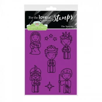 Hunkydory, Happy Town Stamp Set - The Nativity