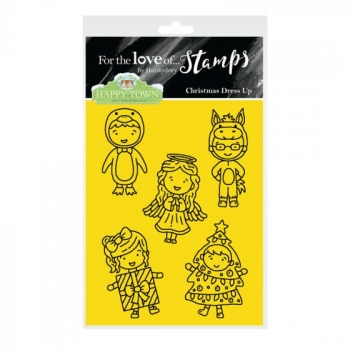 Hunkydory, Happy Town Stamp Set - Christmas Dress Up