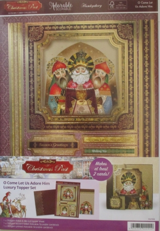 O Come Let Us Adore Him Luxury Topper Set, Hunkydory