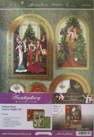 Festive Party Luxury Topper Set, Hunkydory