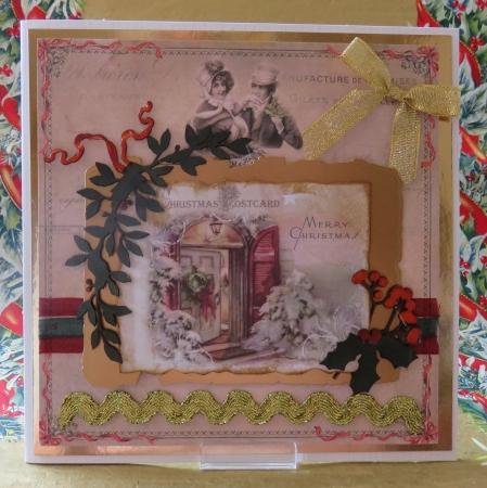 Bilder Weihnachten Nostalgisch.Grußkarte Weihnachten Nostalgisch Merry Christmas