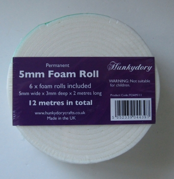 Premier Craft Tools - 5mm Foam Roll, 6 Rollen, Hunkydory