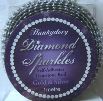 Diamond Sparkles Gemstone Rolls - Gold & Silver, Hunkydory