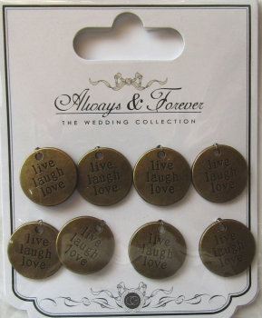Always & Forever - Vintage Sentiment Charms, Craft Consortium