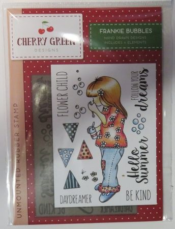 Unmounted Rubber Stamp Cherry Green, Crafters Companion