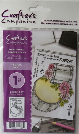 Unmounted Rubber Stamp Floral Beat, Crafters Companion