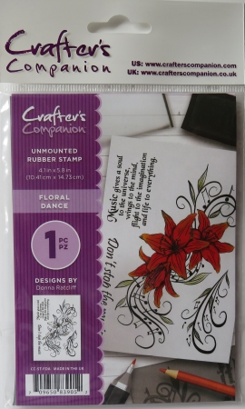 Unmounted Rubber Stamp Floral Dance, Crafters Companion