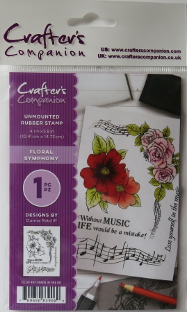 Unmounted Rubber Stamp Floral Symphony, Crafters Companion