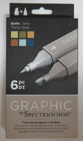 Graphic Marker, doppelte Spitze, Thema Erde, by Spectrum Noir , Crafters Companion