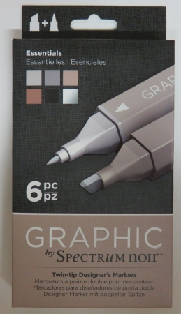 Graphic Marker, doppelte Spitze, Thema Essentials, by Spectrum Noir , Crafters Companion