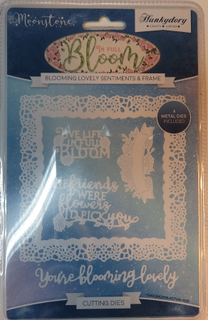 Stanzschablonen Blooming Lovely Sentiments & Frame Moonstone, Hunkydory