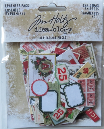 Christmas Snippets, Papierabschnitte, Christmas, Ephemera Pack, idea-ology, Tim Holtz