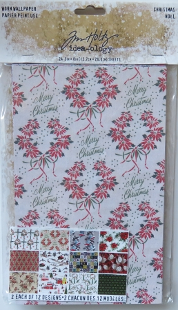 Worn Wallpaper Xmas, idea-ology, Tim Holtz