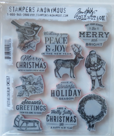 Tim Holtz Collection Stempelset Overlay, Stampers Anonymus