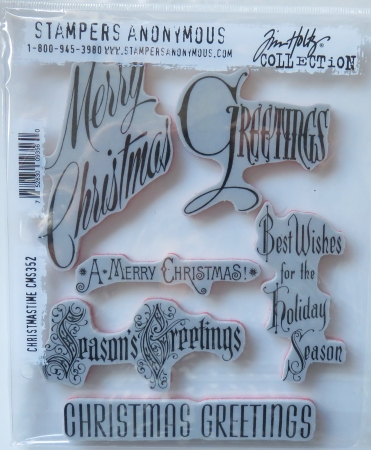 Tim Holtz Collection Stempelset Christmastime , Stampers Anonymus
