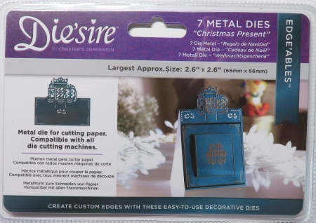 Die'sire Edge'ables Metal Christmas Present, Crafters Companion