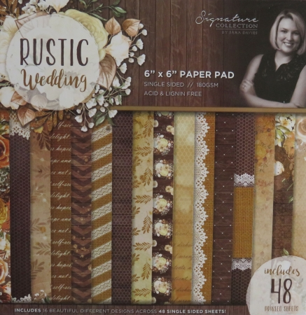 Sara Signature Rustic Wedding Paper Pad, Papier Block, Crafters Companion
