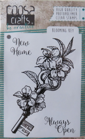 COOSA Crafts clearstamps A7 - Blooming key stamp, Coosa Craft