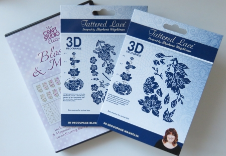 3D Metall Stanzen und CD Blossom & Magnolia, Tattered Lace