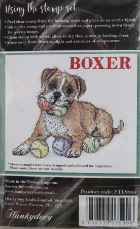 It's a Dog's Life Clear Stamp - Boxer, Hunkydory