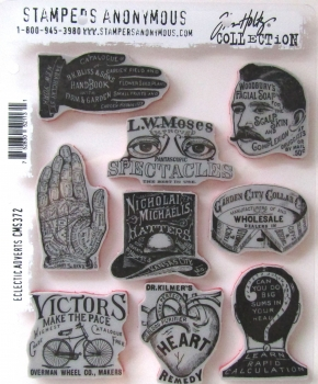 Tim Holtz Collection Stempelset Eclectic Adverts , Stampers Anonymus