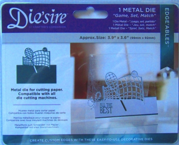 Die'sire Edge'ables Metal Game, Set, Match, Crafters Companion