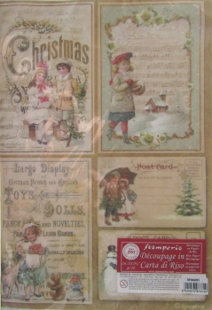 Decoupage Rice Paper - Christmas Postcards Stamperia