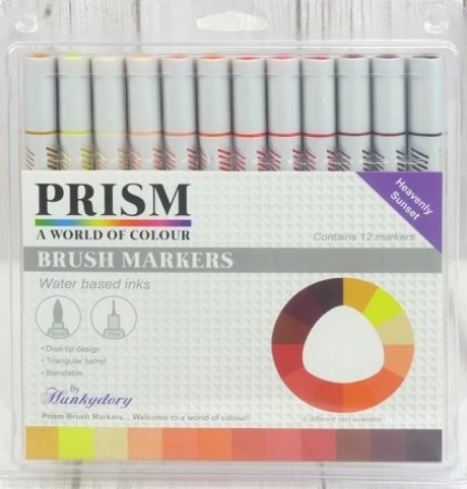 Prism Brush Markers - Heavenly Sunset, Hunkydory