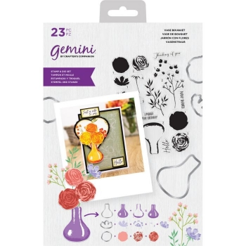 Gemini Layering Stamp and Die - Vase Bouquet, Crafters Companion