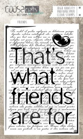 COOSA Crafts clearstamps A6 - Friends (Eng)