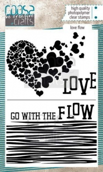 COOSA Crafts clearstamps A6 - Love Flow, Coosa Crafts