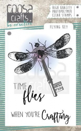 COOSA Crafts clearstamps A7 - Flying Key