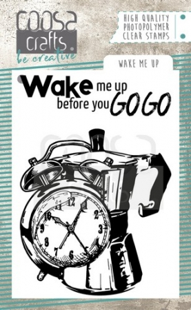 COOSA Crafts clearstamps A7 - Wake me Up, Coosa Crafts