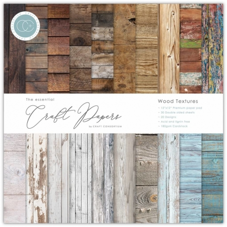 Craft Consortium Essential Craft Papers 6x6 Inch Paper Pad Wood Textures