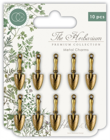 Craft Consortium The Herbarium Trowels Metal Charms
