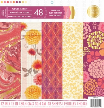 Craft Smith Flower Market 12x12 Inch Paper Pad